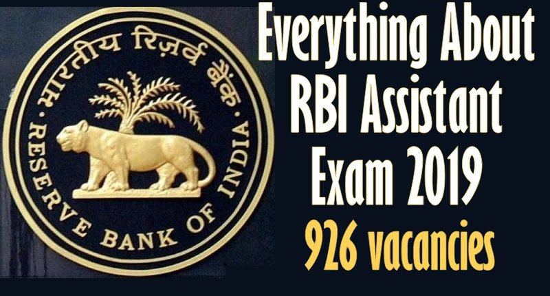 rbi assistant recruitment 2019