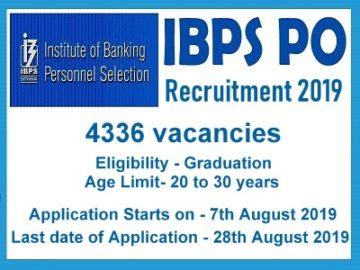 IBPS Clerk Recruitment Notification 2019