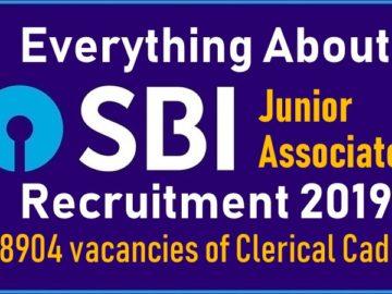 SBI Clerk / Junior Associate Recruitment Notification 2019 Released